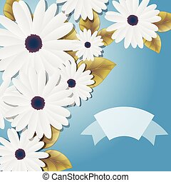 Decorative White Daisies Background