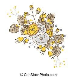 Elegant Flowers Bunch Vector