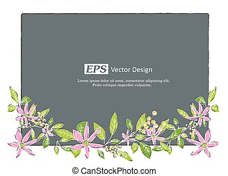Floral Frame Vector Template