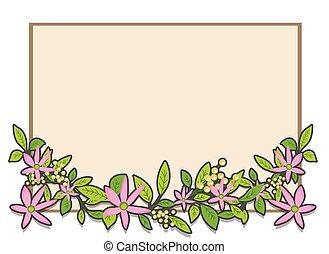 Daisy Border Frame Banner