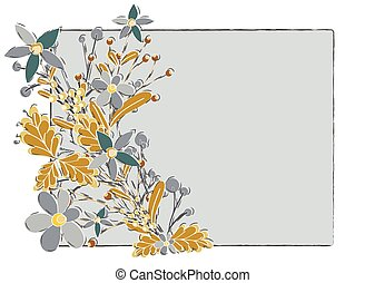 Nature Flowers Vector Background
