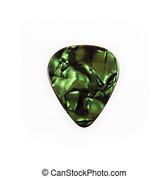 Guitar plectrum isolated on a white background