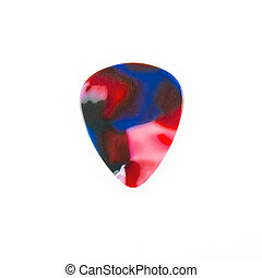 Guitar plectrum isolated on a white