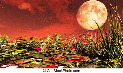 Flowers on Red Planet 3D rendering - Flowers on Red Planet...