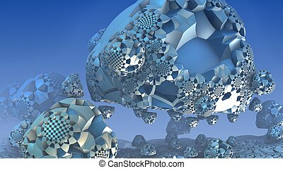 3D fantasy abstract background