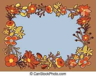 Elegant Flowers Frame Vector