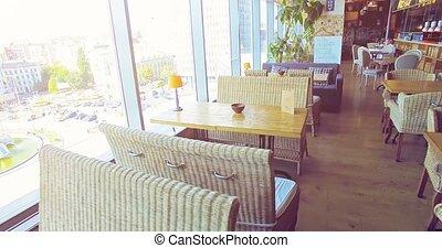 modern restaurant. 4k, 25fps - 4k video shooting: Interior...