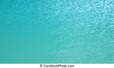 Water surface of Gokyo Lake - Deep blue water surface of...