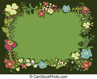 Elegant Flowers Frame