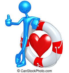 Life Preserver Heart - A Concept And Presentation Figure In...
