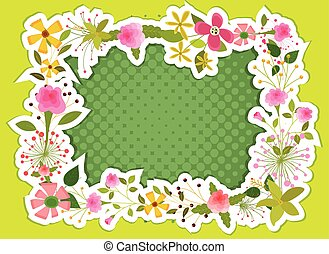 Fancy Flowers Frame Sticker