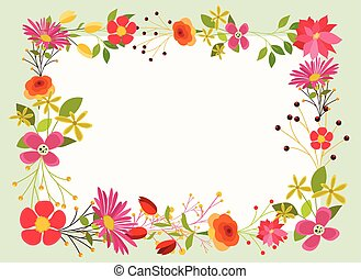 Bright Flowers Frame