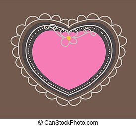 Scrapbooking Heart Frame Vector