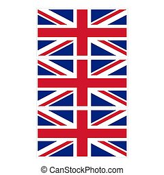 Stamp image of british flag three piece