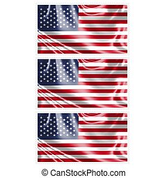Stamp image of american flag three piece