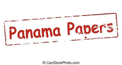 Panama papers - Rubber stamp with text Panama papers inside,...