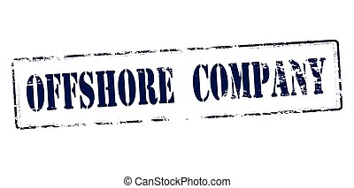 Offshore company - Rubber stamp with text offshore company...