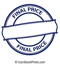 Final price - Rubber stamp with text final price inside,...