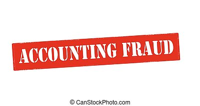 Accounting fraud - Rubber stamp with text accounting fraud...