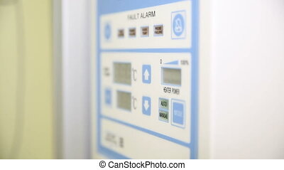 The control panel in the hospital