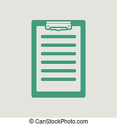 Disease history icon Gray background with green Vector...