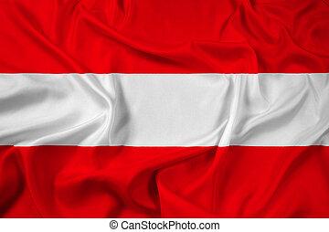 Waving Flag of Leuven, Belgium