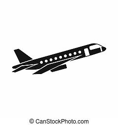 Airplane taking off icon, simple style - Airplane taking off...