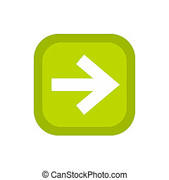 Arrow in square icon, flat style - Arrow in square icon in...