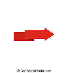 Arrow to right icon, flat style - Arrow to right icon in...