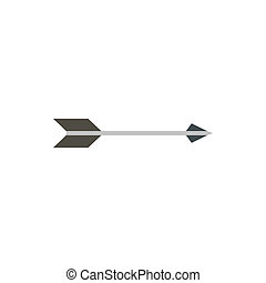 Long arrow icon, flat style - Long arrow icon in flat style...