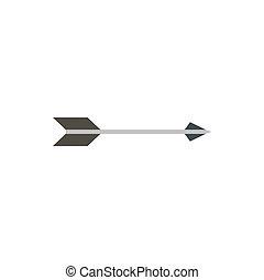 Long arrow icon, flat style - Long arrow icon in flat style...