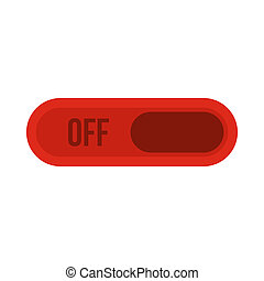 Off button icon, flat style - Off button icon in flat style...