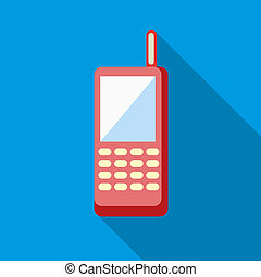 Baby phone icon, flat style - Baby phone icon in flat style...