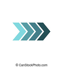 Striped arrow icon, flat style - Striped arrow icon in flat...