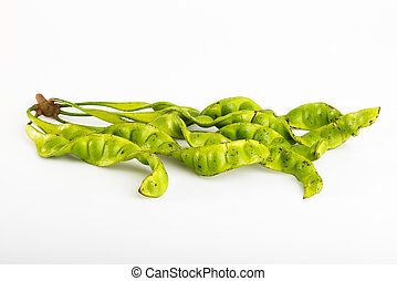sato southern Thailand vegetable on white background