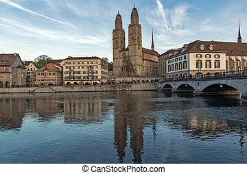 Grossmunster church in Zurich