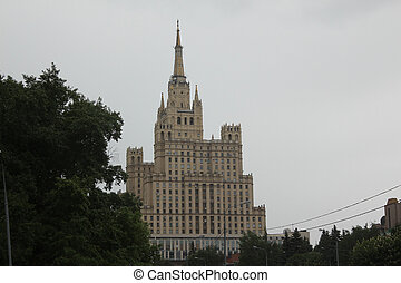 Upper floors of Stalinist building - The upper floors of the...