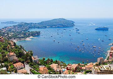 cote dAzur, France - landscape of riviera coast and...