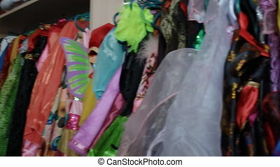 Wardrobe full of children's carnival costumes - Wardrobe...