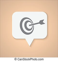 Pictograph of target. Vector concept illustration for...
