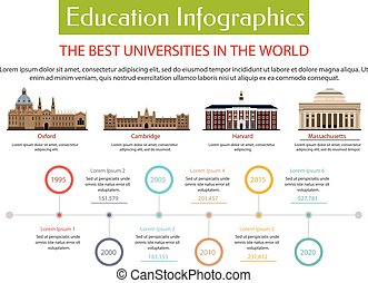 Education infographic placard template