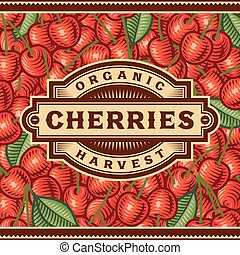 Retro Cherry Harvest Label