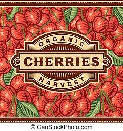 Retro Cherry Harvest Label