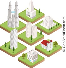 Isometric city buildings collection - Big collection of...