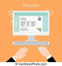 Writing a resume on computer