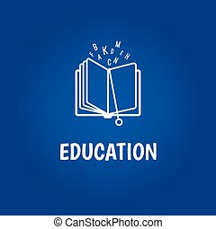Education logo with book - Vector education logo with book...