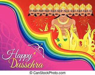 abstract artistic dussehra background vector illustration