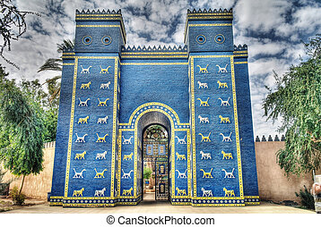 Ishtar gates in Babylon - Copy of Ishtar gates in Babylon...