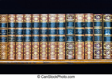 Book volumes - Large volume of old books at rack