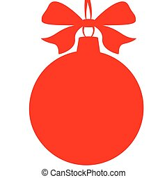 Christmas ball,red
